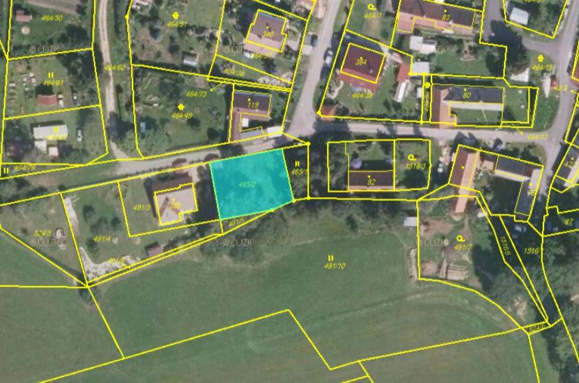 Dražba pozemku v obci Cetoraz, okres Pelhřimov