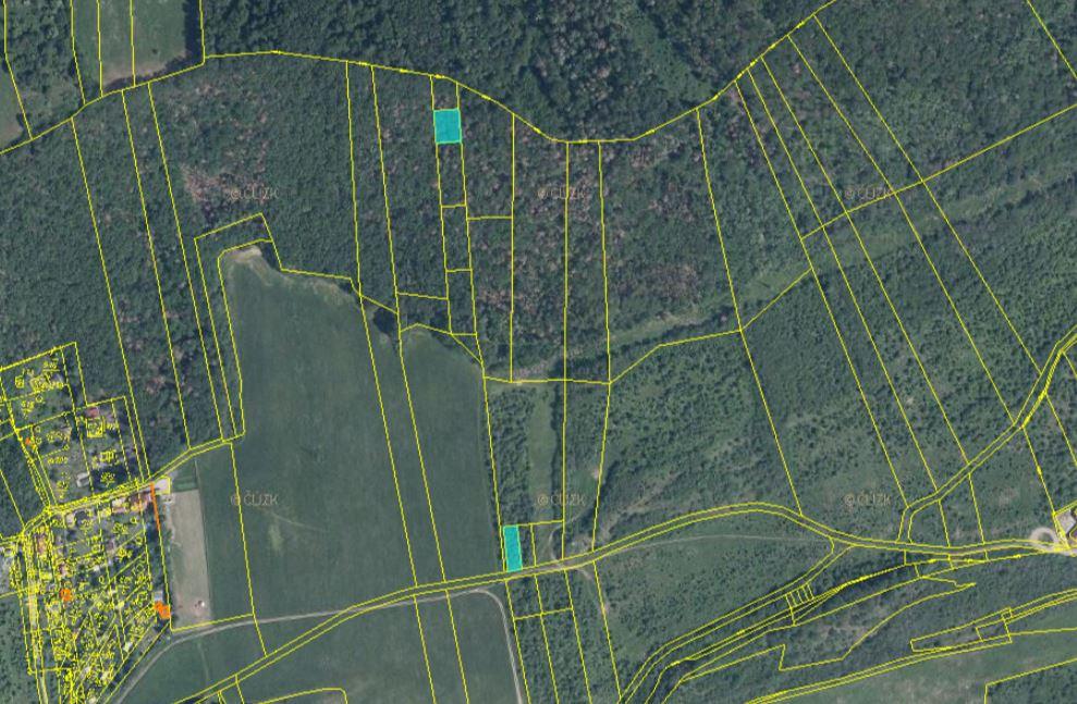 Dražba pozemků v obci Vráž a Loděnice, okres Beroun