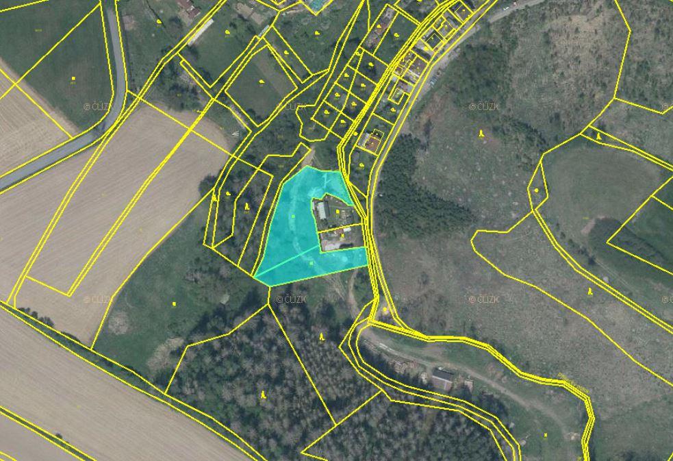 Dražba pozemků v obci Luka nad Jihlavou, okres Jihlava