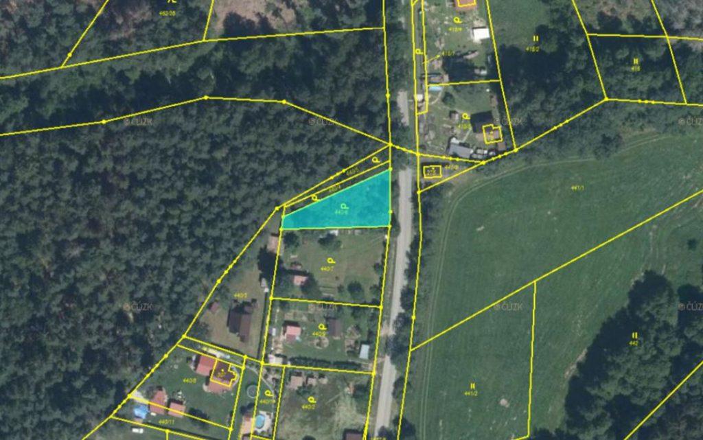 Dražba pozemku (zahrada) v obci Nová Ves u Světlé, okres Havlíčkův Brod